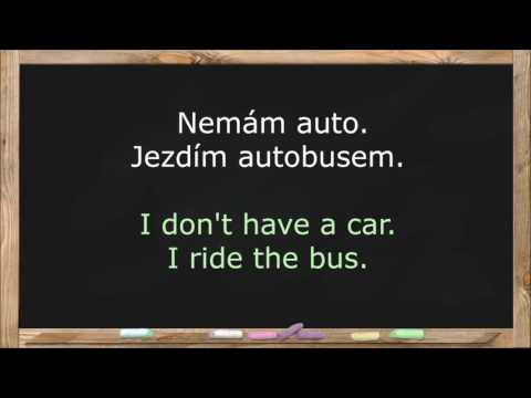 Learn Czech Language. Czech Lessons for Beginners. Common Words & Basic Phrases - Lesson 5