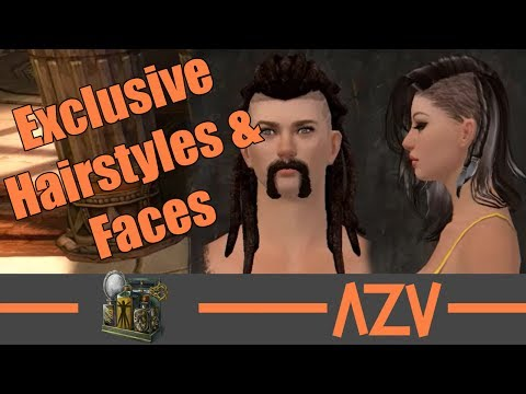 GW2: 🔥 All exclusive Human hairstyles and faces 🔥