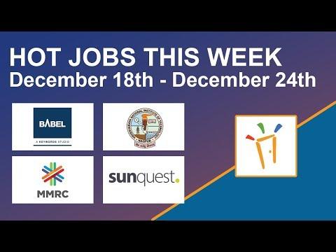 Freshersworld Hot Jobs Of The Week-(Dec 18th–Dec 24th) – Babel media, Vnit, Sunquest, Mumbai Metro