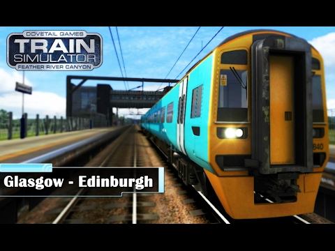 ***Train Simulator 2017*** Glasgow to Edinburgh Train Ride (HD Quality)