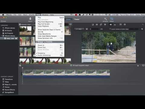 iMovie 10 (2013) - adjust clip speed with wrapping timeline turned ON