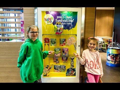 Roald Dahl Happy Meals in McDonald Kids opening Happy Meal