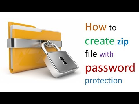 How to make Password Protected Zip Files