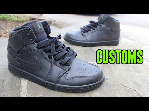 How to PAINT JORDAN Shoes! (Blackout Custom)