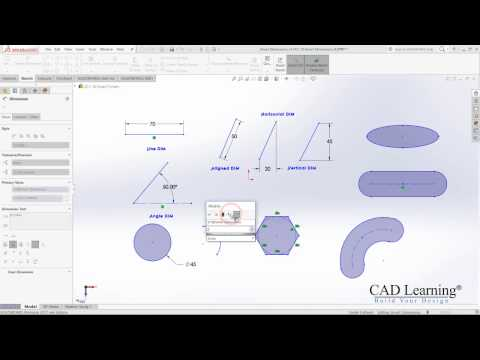 1.4. Smart Dimensions - SolidWorks 2017
