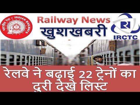 Railways announced extension of 22 pairs of train services रेलवे ने बढ़ाई 22 ट्रेनों का दुरी देखे