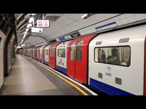 Trains At London Victoria Tube Station - Monday 4th December 2017