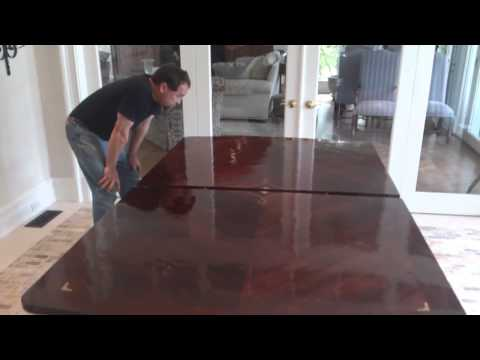 Pigments Painting Refinishing Antique Mahogany Table