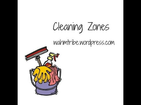 Weekly cleaning zones for busy moms!