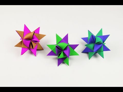 How to make a paper Froebel Star