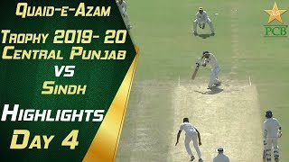 Sindh vs Central Punjab Day Four Highlights | Quaid e Azam Trophy 2019-20