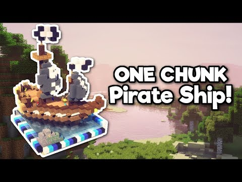 Minecraft: Pirate Ship in ONE CHUNK! [Tutorial]