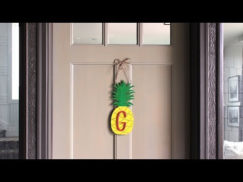 Pineapple Monogram Wreath DIY