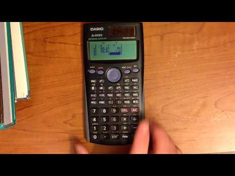 How to do basic linear regression on the Casio fx-300ES