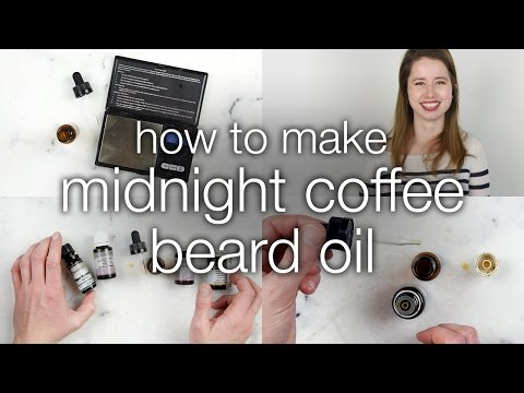 How to Make Midnight Coffee Beard Oil