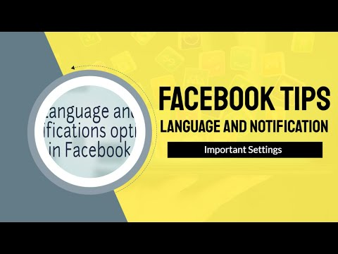facebook language and notifications options tips