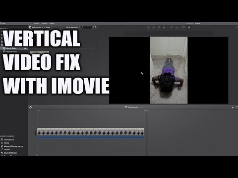A Fix for Vertical Videos with iMovie
