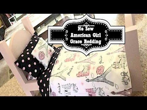 DIY American Girl Doll Bedding | No-Sew
