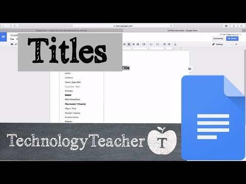 How to Add a Title in Google Docs