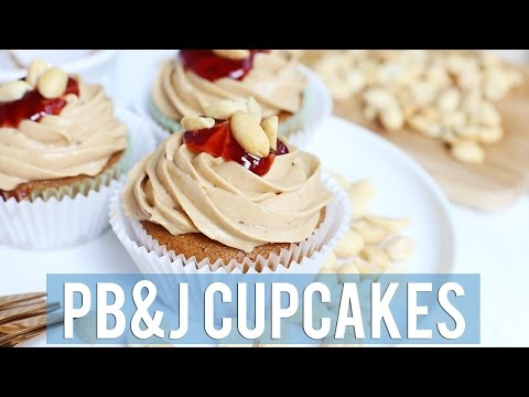 Peanut Butter and Jelly Cupcakes | VEGAN + GLUTEN-FREE