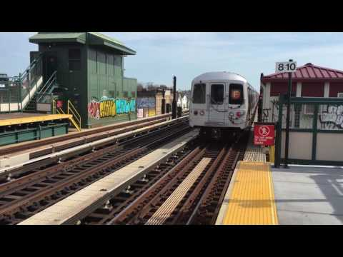 IND Culver Line: R46 and R160A/R160B Alstom (F) Train Action at Ditmas Avenue