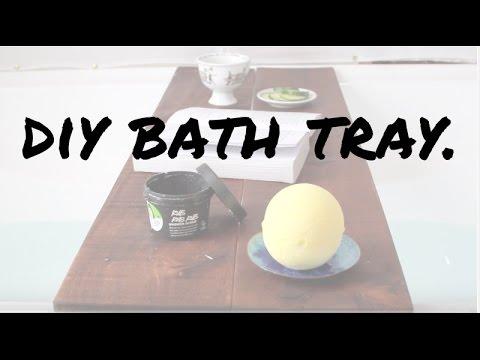 DIY bath tray/caddy  [Easy+fast]  Recycled wood.