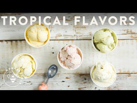 5 Tropical Ice Creams! No Churn and Homemade - Honeysuckle