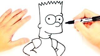 Como dibujar a Bart Simpson paso a paso | Dibujo facil Bart Simpson