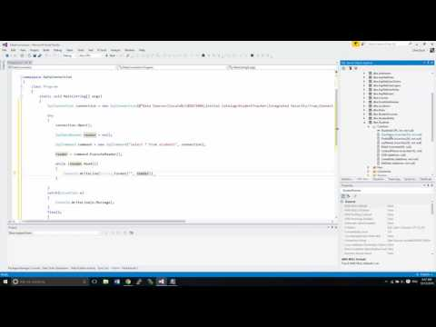 C# ODBC Part 1 - SqlConnection and Simple Queries