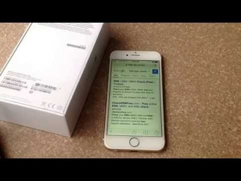 iPhone 6 / iPhone 6 plus - how to check ESN / IMEI number. (Checks stolen / blacklist)