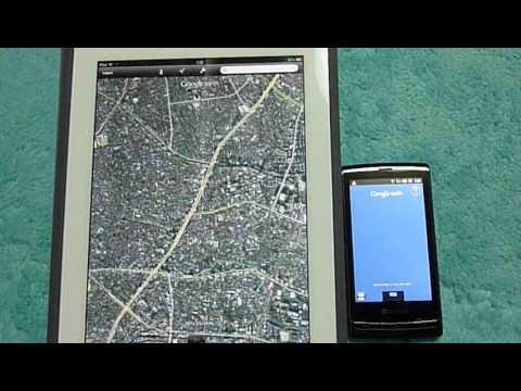 iPad(第4世代)とsotbank003SHのGoogle Earth立ち上げ速度比較