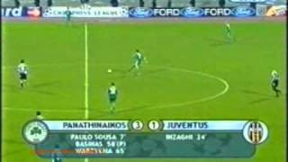 Panathinaikos - Juventus 3-1 ΠΑΝΑΘΗΝΑΪΚΟ ΜΕΓΑΛΕΙΟ