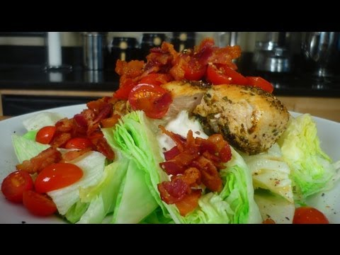 Chopped Wedge Salad with Seared Oregano Chicken Breast