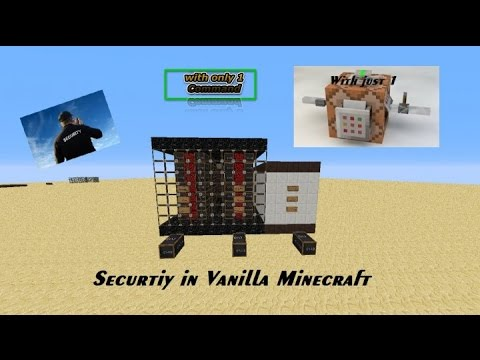 Security in Vanilla Minecraft (One Command)