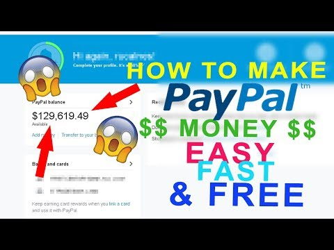 How to get PayPal Money FAST, EASY & FREE (1000$ in minutes) (Tutorial 2017)