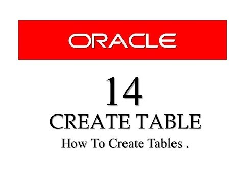 Oracle Database11g tutorials 14 : How to CREATE TABLE using sql developer and command prompt