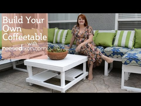 Build a DIY Outdoor Coffeetable