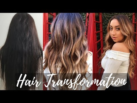 HAIR TRANSFORMATION| Blonde Ombré Balayage
