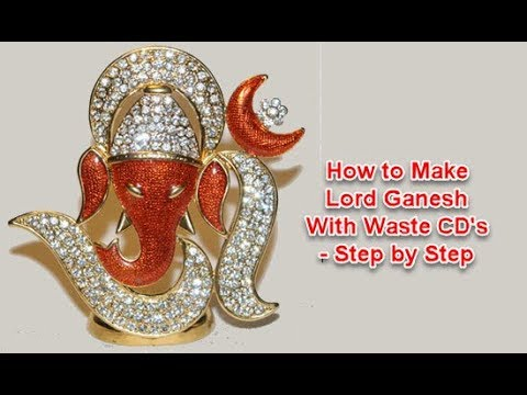 How to Make Lord Ganesh With Waste CD's - Step by Step