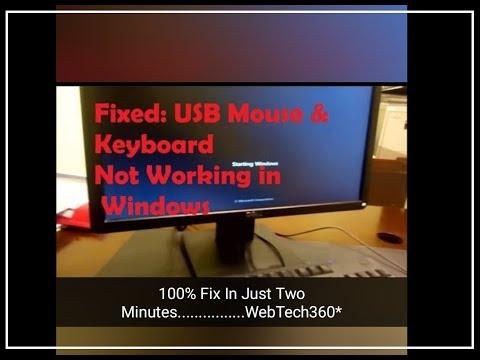 Keyboard Not Working After Startup Or In BIOS (Keyboard Error !!)- WebTech360*