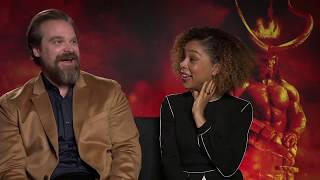 Interview - Hellboy Stars David Harbour and Sophie Okonedo