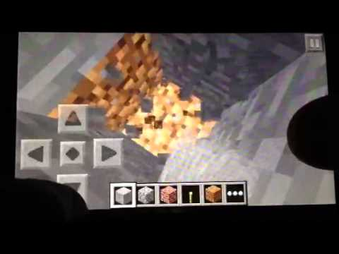 Minecraft pe diamonds on the seed nyan