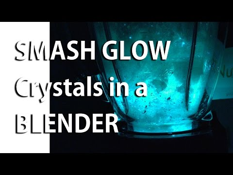 Smash Glow Crystals in a Blender