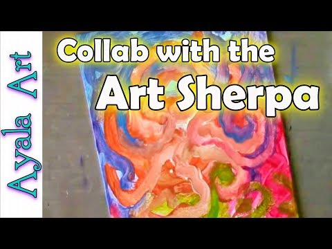 Painting a canvas Art Collab With Cinnamon Cooney The Art Sherpa