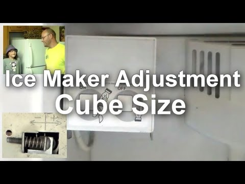 Ice Maker Troubleshooting and Adjusting - Cube Size