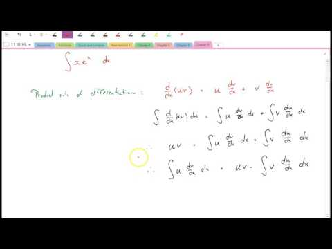 Integration by parts (the 'product rule' of integration)