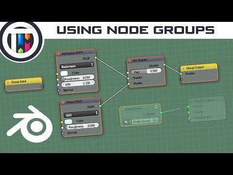 Blender Tutorial - How to use Node Groups