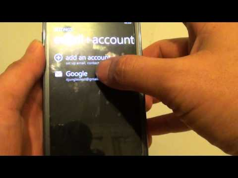 Samsung Ativ S: How to Remove Old Email Account