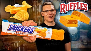 Can We Make a Cheddar and Sour Cream Ruffles Snickers? | SNACK SMASH | Mythical Kitchen