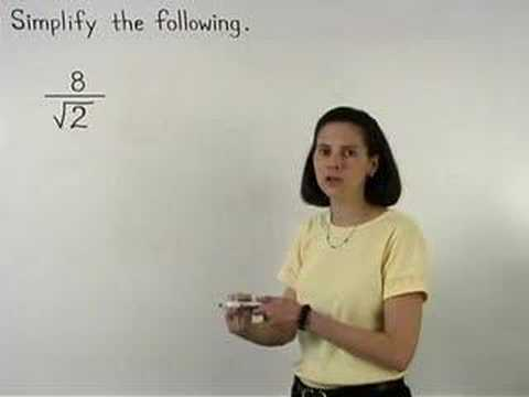 Dividing Square Roots - MathHelp.com - Math Help